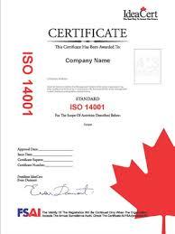 صدور گواهینامه ایزو 14001